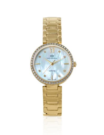 Continental Women's Classic Mother of Pearl Dial Yellow Gold Metal Watch. 19601-LT202501