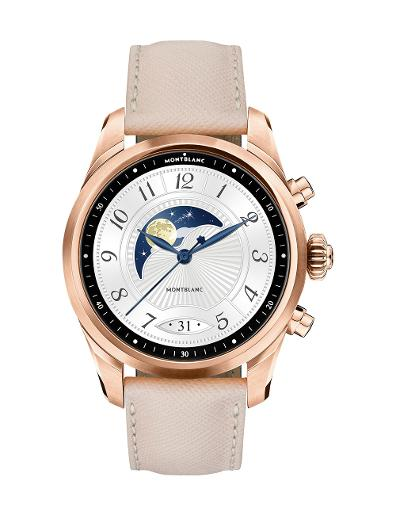 Montblanc Summit 2+ Gold-coated Steel and Leather  smartwatch 127683