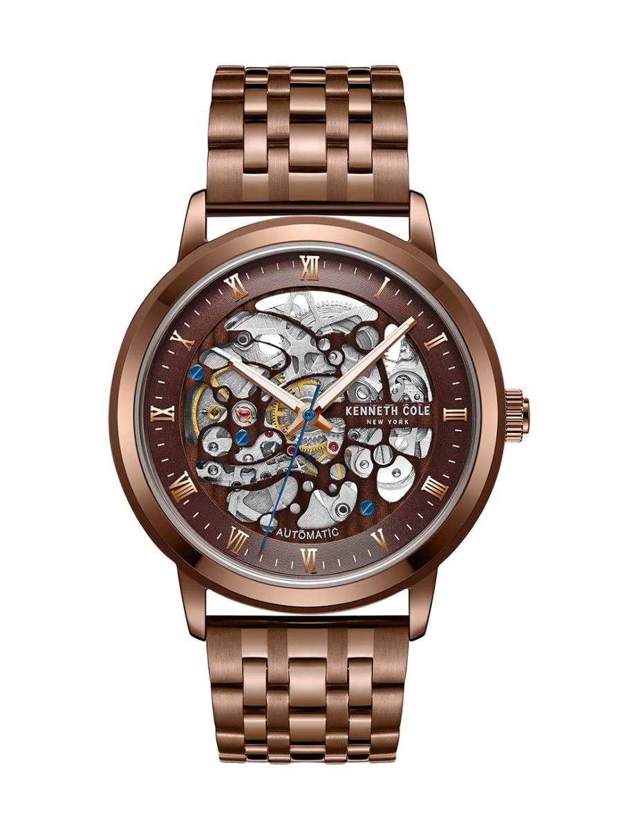 Kenneth Cole  Men's Automatic Brown Dial Brown Stainless Steel Watch.  KC50920005