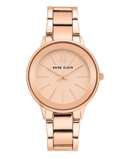 Anne Klein Women's Metal Rose Gold Dial Nickel compliant rose gold Metal Watch. AK3750RGRG