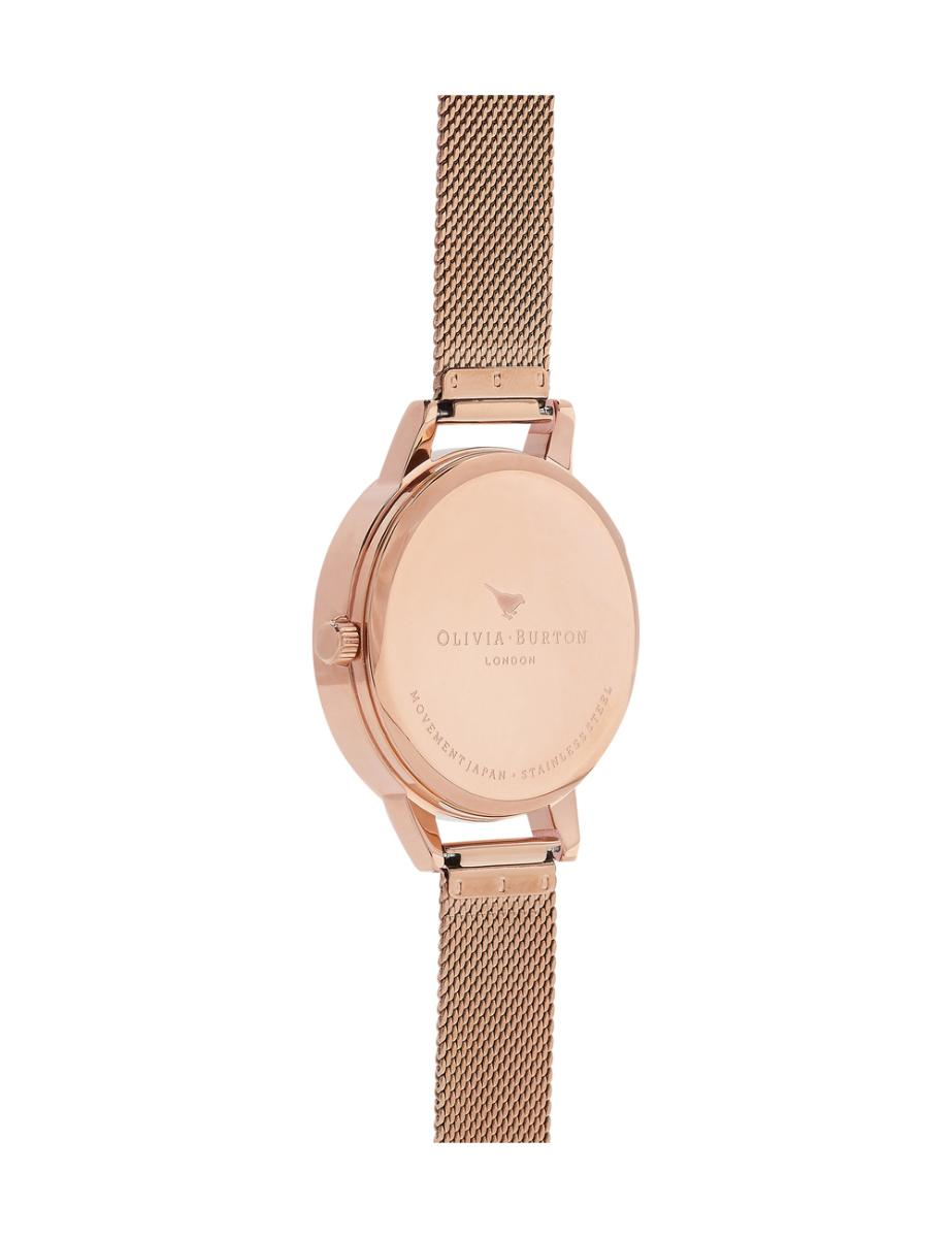 Olivia Burton  Women's Queen Bee Rose Gold Mesh  OB16AM122