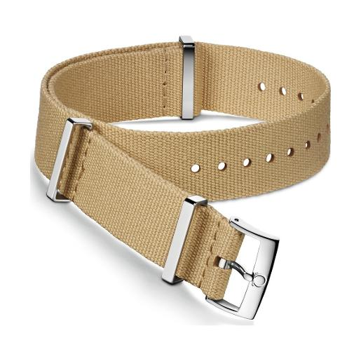 OMEGA Beige polyester strap. Size: 19-20 MM 031CWZ007567