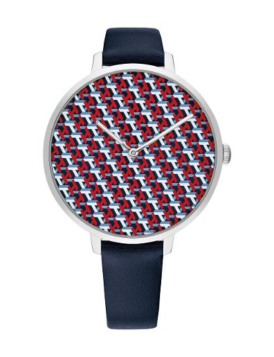Tommy Hilfiger Women's Alexa Multi Color Dial Blue Leather Watch. 1782153