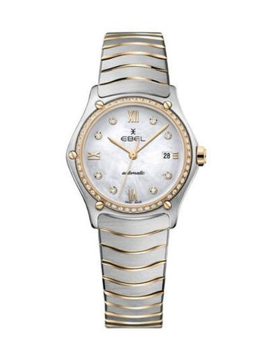 Ebel Women's Sport Classic Mother of Pearl Dial Two Tone Stainless Steel Watch. 1216430A