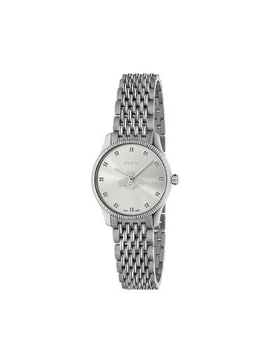Gucci  Women's G-TIMELESS Silver Dial Silver Stainless Steel Watch.  YA1265019