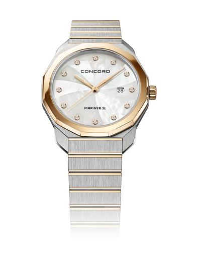 Concord Women's Mariner Mother of Pearl Dial Rose Gold Metal Watch. 320470