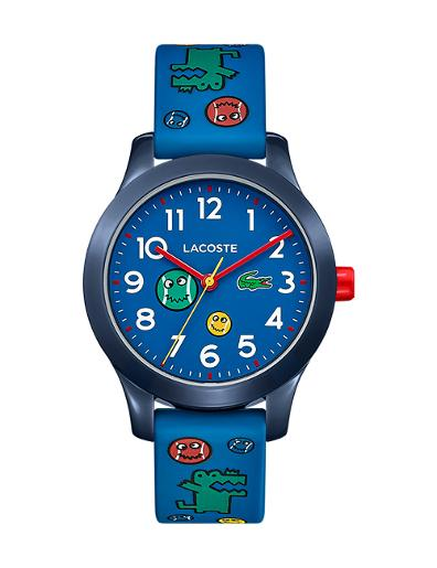 Lacoste Unisex's L12K Blue Dial Blue Rubber Watch 2030030