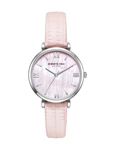 Kenneth cole Women's Classic Silver Dial Pink Stainless Steel Watch. KC51115001