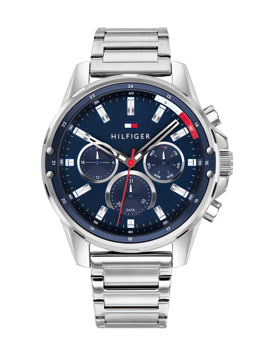 Tommy Hilfiger  Men's Mason Blue Dial Silver Stainless Steel Watch  1791788