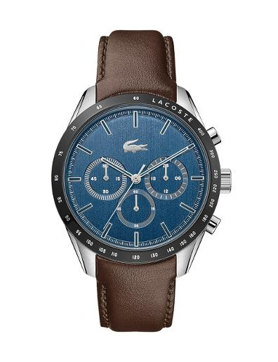 Lacoste Men's Boston Blue Dial Brown Leather Watch 2011093