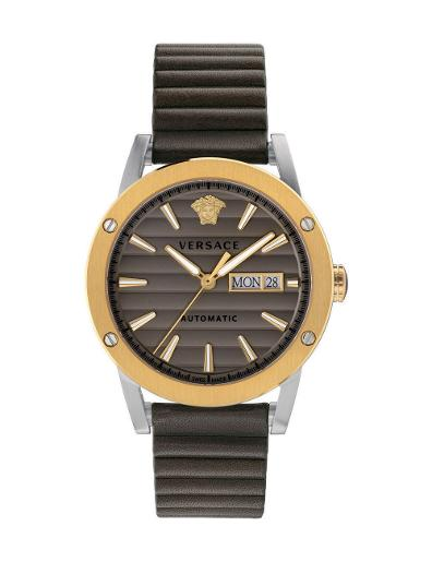 Versace Men's THEROS AUTOMATIC Brown Dial Brown leather Watch. VEDX00219