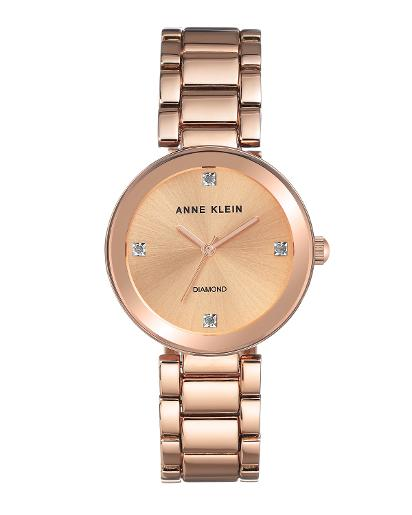 Anne Klein Women's Metal Rose Gold Dial rosegold Metal Watch. AK2688RGRG