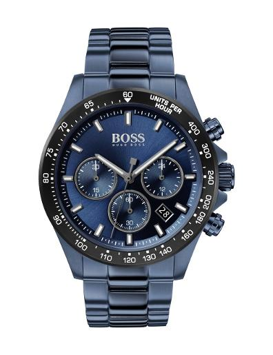 Hugo Boss Men's HERO BLUE Dial BLUE SS STEEL Watch. 1513758