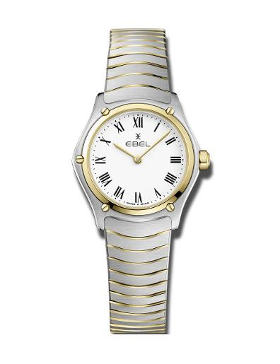 Ebel Women's Sport Classic Mini White Dial Two Tone Stainless Steel Watch. 1216384
