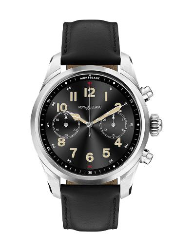 Montblanc Summit 2+ Stainless Steel and Leather  smartwatch 127647