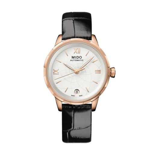Mido  Mido Women Automatic Black Leather Round Stainless steel White Dial  M043.207.36.018.00