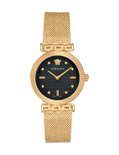 Versace Women's MEANDER Black Dial Gold stainless steel Watch. VELW00720