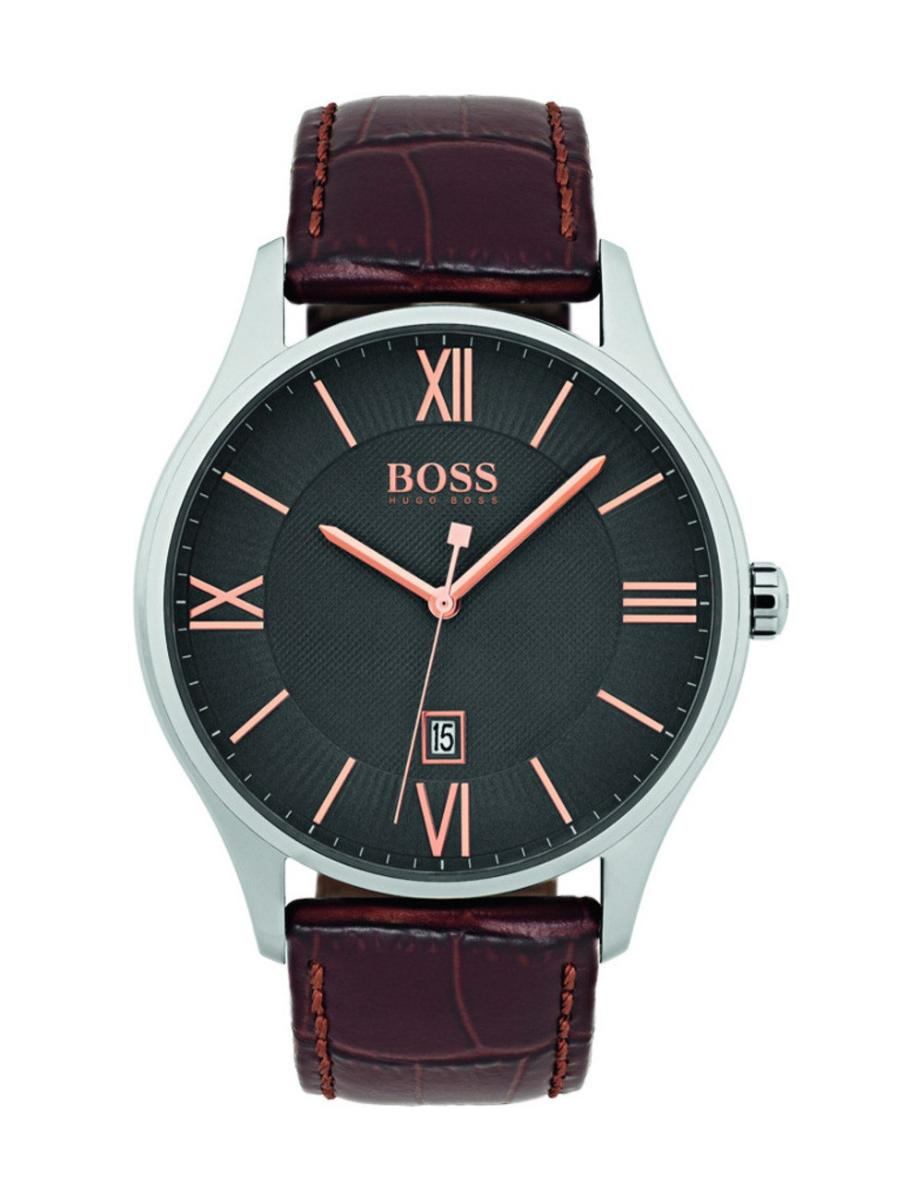 Hugo Boss  Men's GOVERNOR Black Dial Brown LeatherWatch  1513484