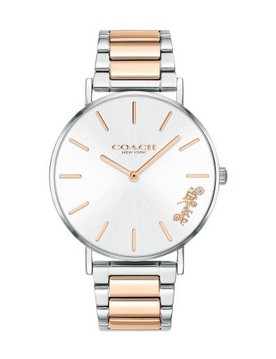 Coach Women's Perry White Dial White Leather Watch. 14503346
