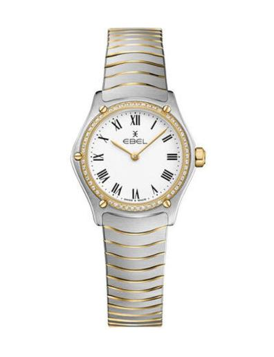 Ebel Women's Sport Classic Mini White Dial Two Tone Stainless Steel Watch. 1216385A