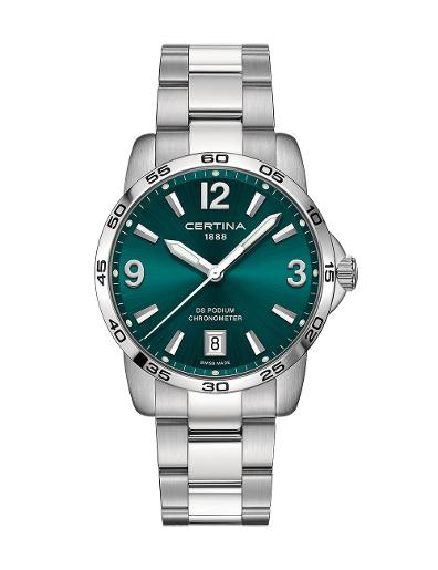 Certina Men's DS Podium Green Dial Silver Stainless Steel Watch. C034.451.11.097.00