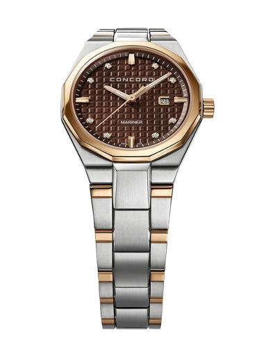 Concord Women's Mariner Brown Dial Silver Metal Watch. 320426