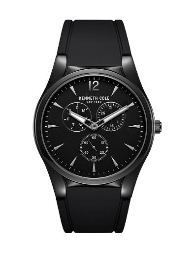 Kenneth Cole Men's Multifunction Black Dial with Silver Steel Watch KC51124001