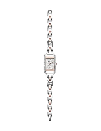 Everswiss Women's Ladies Fancy  Silver Dial RG Stainless Steel with Yellow Gold colour plated Stainless Steel Watch. 1697-LRTSS