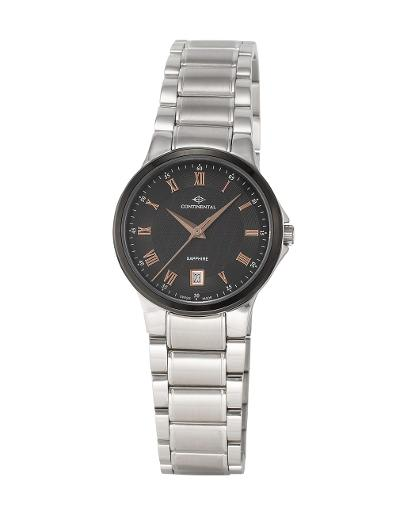 Continental Women's Classic Black Dial Steel Metal Watch. 14201-LD101414