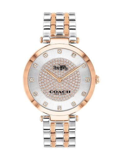 Coach Women's PARK SILVER WHITE Dial Two Tone Stainless Steel Watch. 14503644