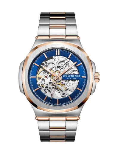 Kenneth cole Men's Automatic Blue Dial Two Tone Stainless Steel Watch. KC51017008