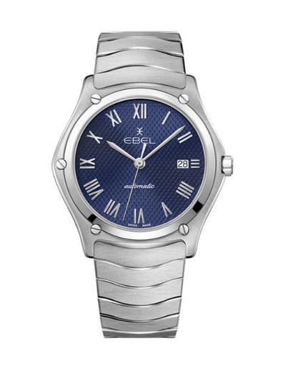 Ebel Men's Sport Classic Blue Dial Silver Stainless Steel Watch. 1216456A